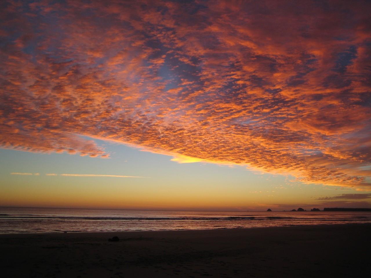 coucher de soleil à goulien