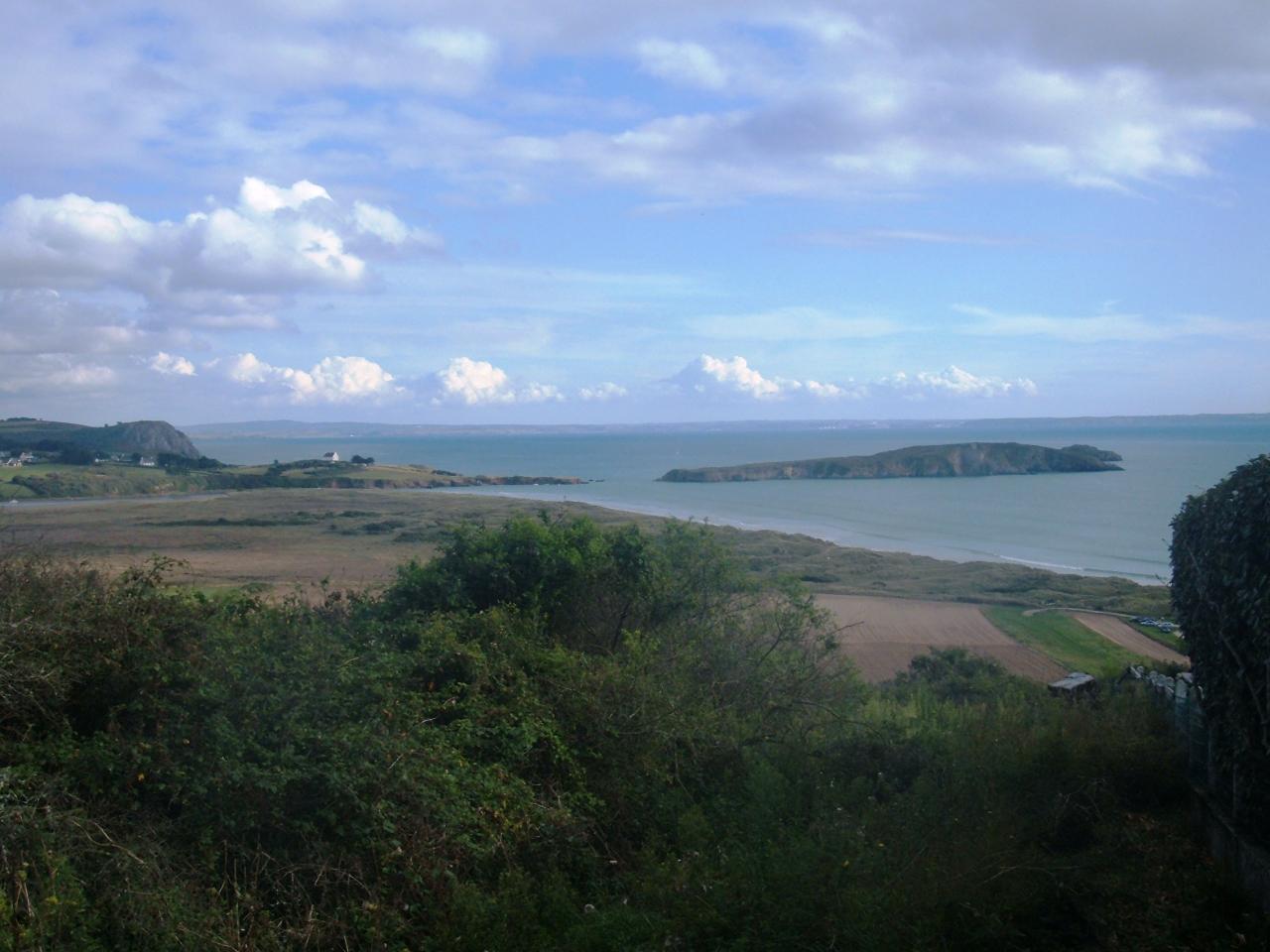 l'Île de l'Aber vue du centre équestre de Treberon