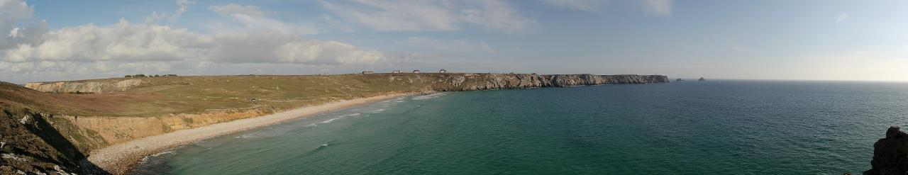 La plage de Pen-Hat et la pointe de Pen-Hir