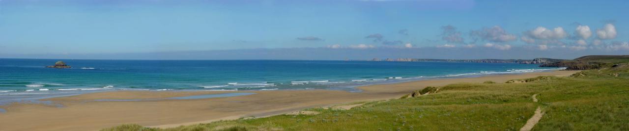 panoramique de la plage de la palue